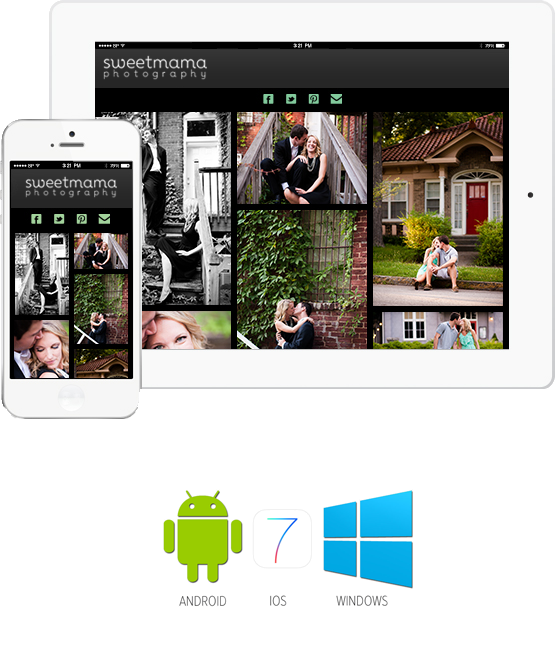 Sweetmama Photography mobile photo album apps