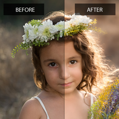 Before-and-After retouching demo by Cyprus Photographers Andreas and Alexia - Cyprus Children Photographers
