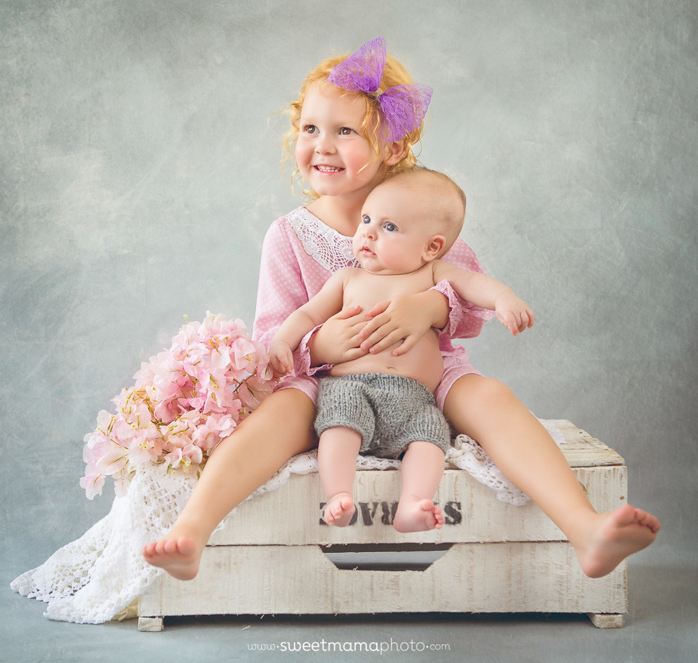 Child - Family portrait by Cyprus-based Family boutique Sweemama Photography. Sisters portrait.