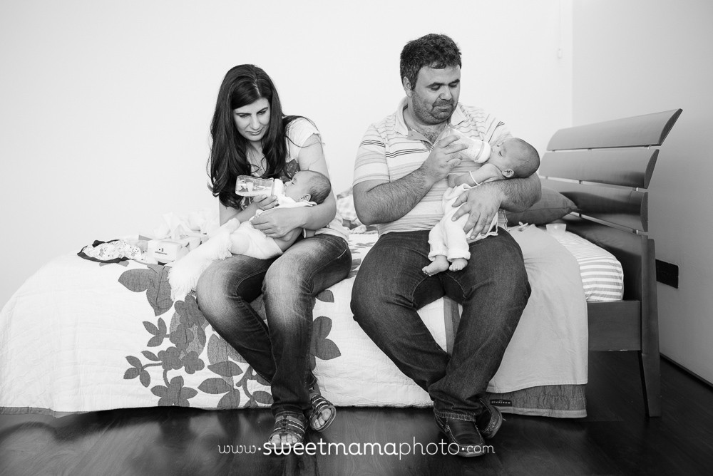 Newborn and family portrait by Cyprus-based Family portrait boutique Sweemama Photography - Twin boy and girl