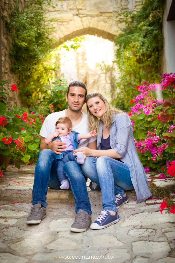 Outdoor family portrait by Cyprus-based Family portrait boutique Sweemama Photography - Lefkara village