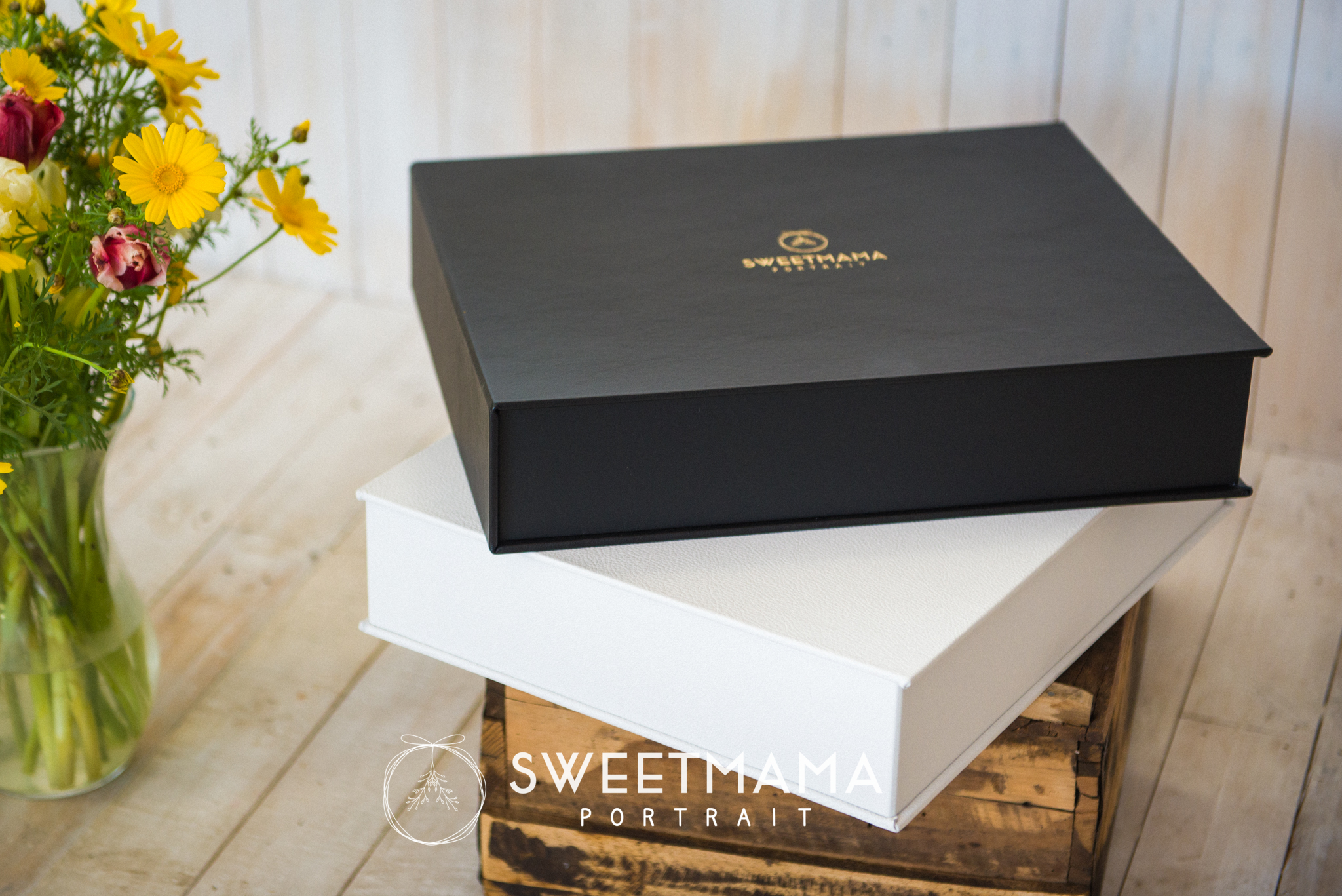 Folio Boxes, signature portrait products - Sweetmama Photography, Cyprus-based photography boutique specialising in couture-inspired Christening, Family, and Newborn portrait photography